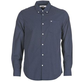 Clothing Men long-sleeved shirts Vicomte A. JANOUPE Marine