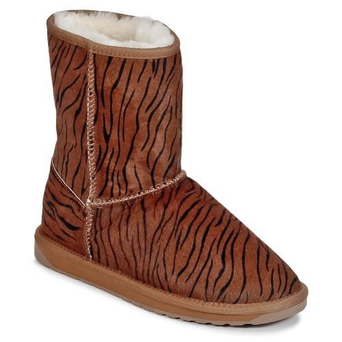 Shoes Women Mid boots EMU STINGER FUR LO Tiger