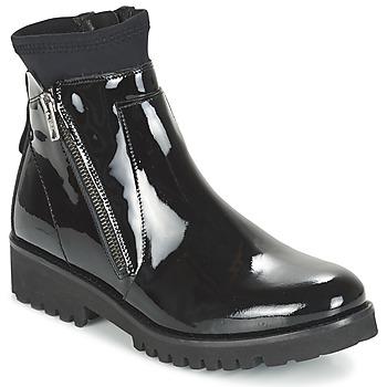Shoes Women Mid boots Regard REJABI Black / PATENT
