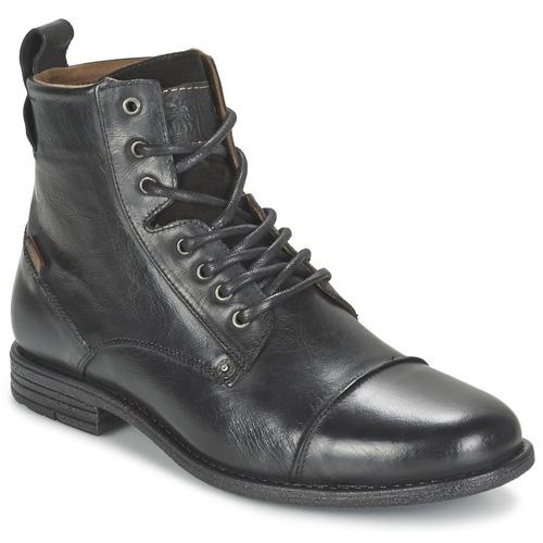 Shoes Men Mid boots Levi's EMERSON LACE UP Black