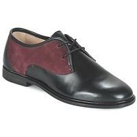 Shoes Women Derby Shoes M. Moustache EUGENIE Black / BORDEAUX