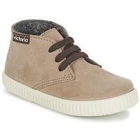Shoes Children Hi top trainers Victoria SAFARI SERRAJE KID TAUPE