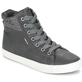 Shoes Girl Hi top trainers Geox KIWI GIRL Grey