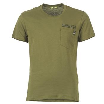 Clothing Men short-sleeved t-shirts Versace Jeans PATCH POCKET TIGER KAKI