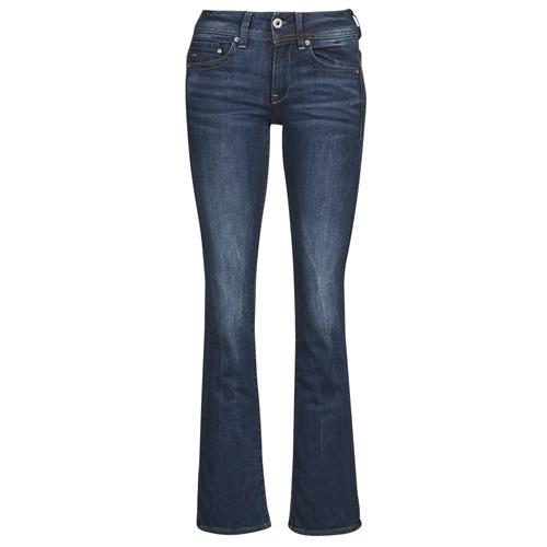Clothing Women bootcut jeans G-Star Raw MIDGE SADDLE MID BOOTLEG Neutro / Stretch / Denim / Dk / Aged