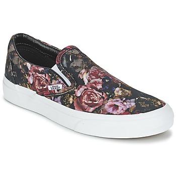 Shoes Women Hi top trainers Vans Classic Slip-On  BLACK
