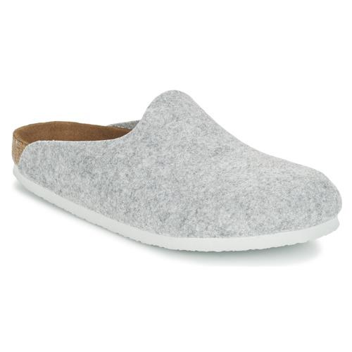 Shoes Women Clogs Birkenstock AMSTERDAM Grey / Clear