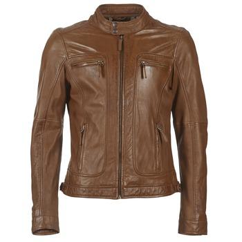 Clothing Men Leather jackets / Imitation leather Oakwood 60901 Cognac