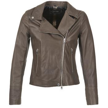 Clothing Women Leather jackets / Imitation leather Oakwood 62049 Grey / Clear