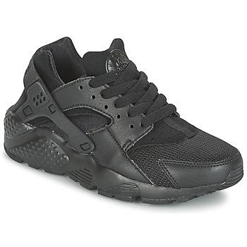 Shoes Children Low top trainers Nike HUARACHE RUN JUNIOR Black