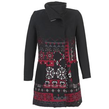 Clothing Women coats Desigual JEFINITE Black / Red