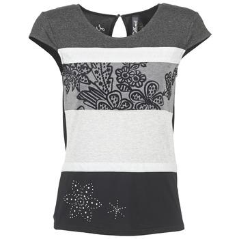 Clothing Women short-sleeved t-shirts Desigual KITEPI White / Grey / Black