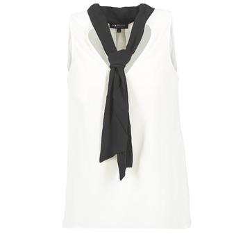 Clothing Women Tops / Blouses Morgan OREA White / Black