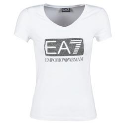 Clothing Women short-sleeved t-shirts Emporio Armani EA7 FOUNAROLA White