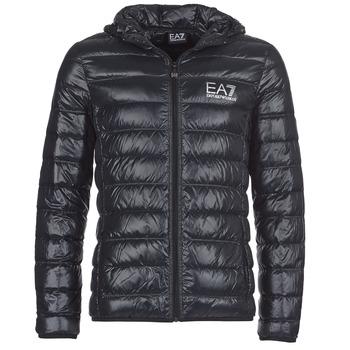Clothing Men Duffel coats Emporio Armani EA7 ANDOURALO Black