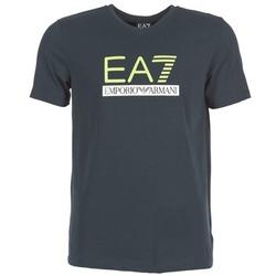 Clothing Men short-sleeved t-shirts Emporio Armani EA7 JANTLOA MARINE