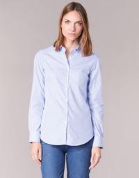 Clothing Women Shirts Casual Attitude FANFAN White / Blue