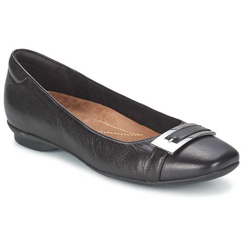 Shoes Women Flat shoes Clarks CANDRA GLARE Black