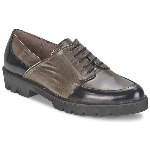 Shoes Women Derby Shoes Wonders CAMMA Black / Grey