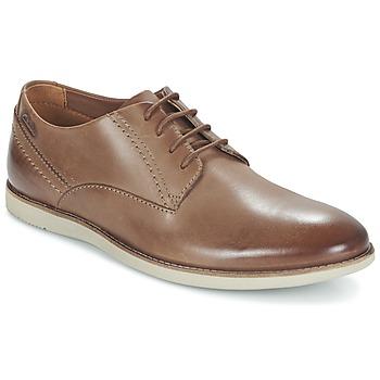 Shoes Men Derby Shoes Clarks FRANSON PLAIN TAN / Leather