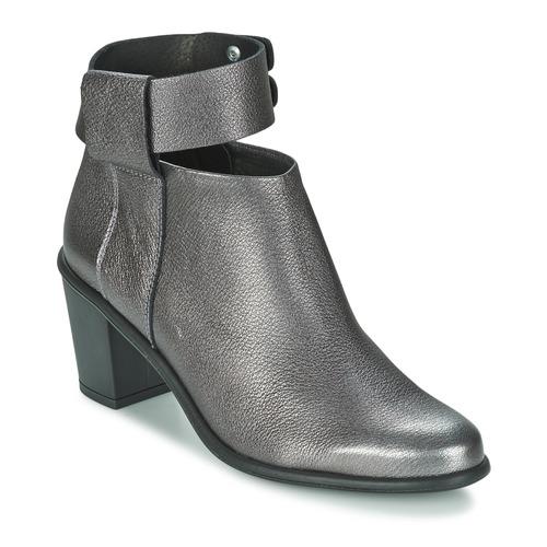 Shoes Women Shoe boots Miista ODELE Pewter / Lever
