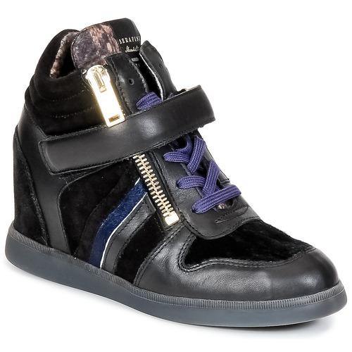 Shoes Women Hi top trainers Serafini LEXINGTON Black