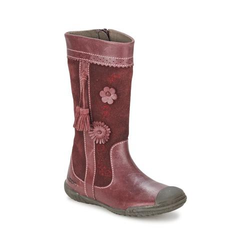 Shoes Girl High boots Mod'8 KLAN Bordeaux