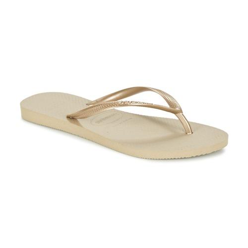 Shoes Women Flip flops Havaianas SLIM Gold