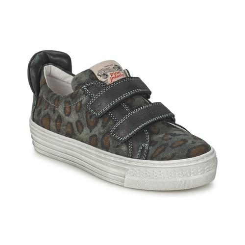 Shoes Children Low top trainers Diesel JERMAN Grey / Leopard