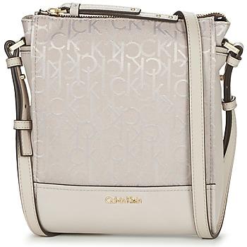 Bags Women Shoulder bags Calvin Klein Jeans MARINA LOGO FLAT CROSSBODY BEIGE
