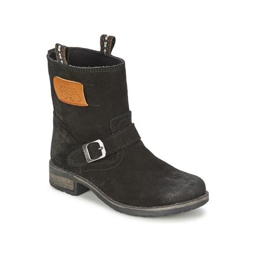 Shoes Girl Mid boots Le Temps des Cerises JUNIOR ALOE Black