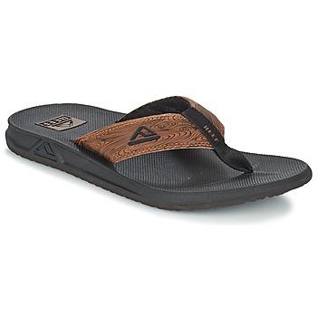 Shoes Men Flip flops Reef PHANTOM PRINTS Black / Brown