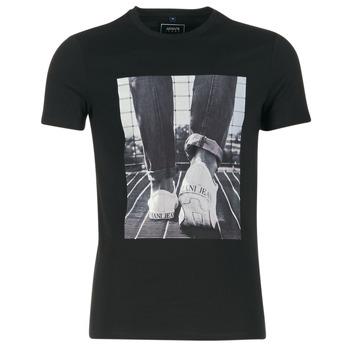 Clothing Men short-sleeved t-shirts Armani jeans JANADORI Black