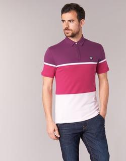 Clothing Men short-sleeved polo shirts Armani jeans MARAFOTA Purple / Red / White