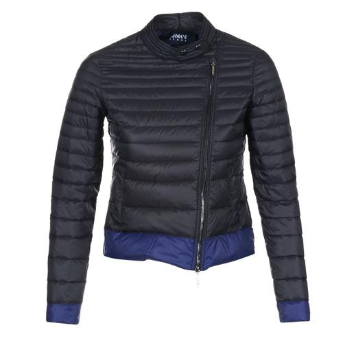 Clothing Women Duffel coats Armani jeans BEAUJADO Black / Blue
