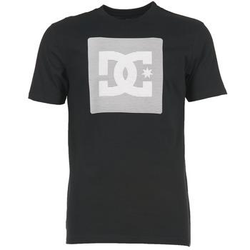 Clothing Men short-sleeved t-shirts DC Shoes VARIATION SS Black / Grey / White