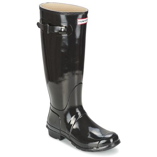 Shoes Women Wellington boots Hunter Women's Original Tall Gloss Black