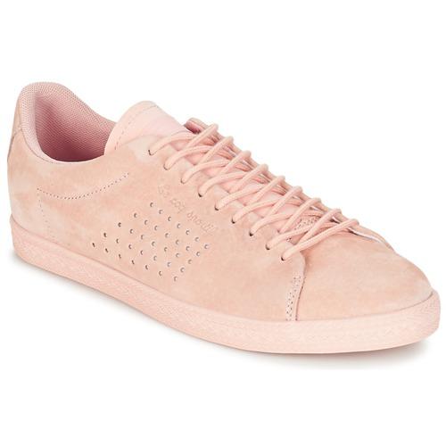 Shoes Women Low top trainers Le Coq Sportif CHARLINE NUBUCK Pink