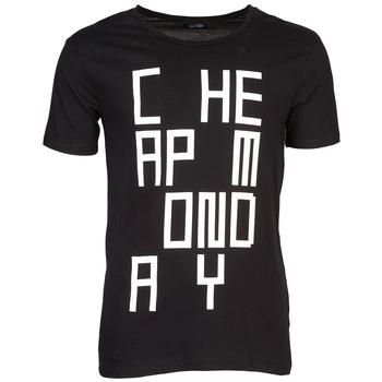 Clothing Men short-sleeved t-shirts Cheap Monday TYLER Black