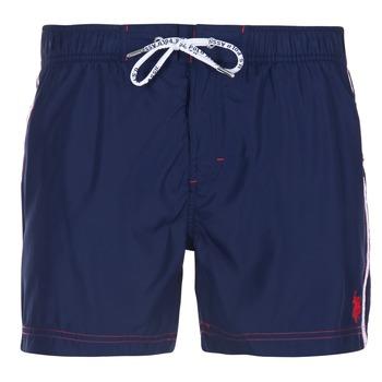 Clothing Men Trunks / Swim shorts U.S Polo Assn. AXEL SWIM TRUNK MED MARINE