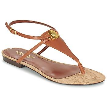 Shoes Women Sandals Ralph Lauren ANITA SANDALS CASUAL Brown