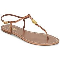 Shoes Women Flip flops Ralph Lauren AIMON SANDALS CASUAL CAMEL