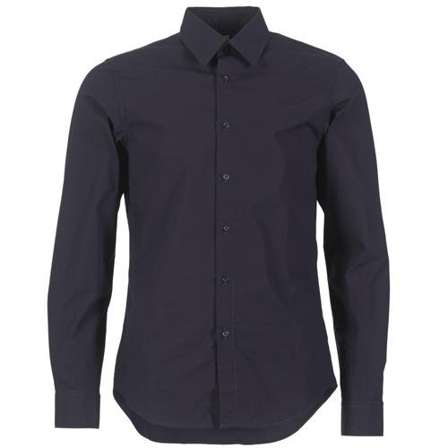 Clothing Men Long-sleeved shirts G-Star Raw CORE SHIRT Marine