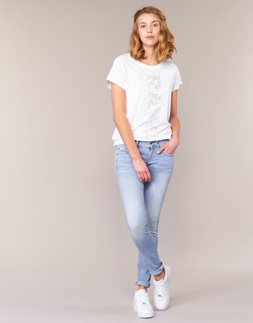 Clothing Women Skinny jeans G-Star Raw LYNN MID SKINNY Blue / Clear