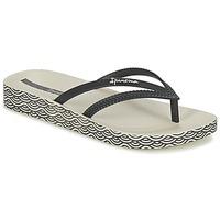 Shoes Women Flip flops Ipanema BOSSA SOFT Black / Beige