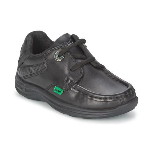 Shoes Children Boat shoes Kickers REASON LACE Black