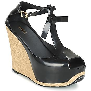 Shoes Women Sandals Melissa PEACE VI Black / Beige