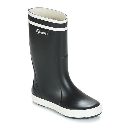 Shoes Children Wellington boots Aigle LOLLY POP Marine / White