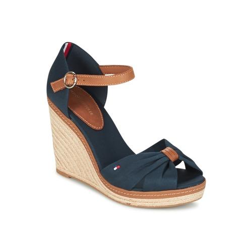 Shoes Women Sandals Tommy Hilfiger ELENA 56D Marine / Brown