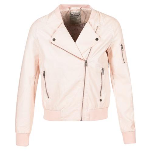 Clothing Women Leather jackets / Imitation leather Kaporal ALARE Nude